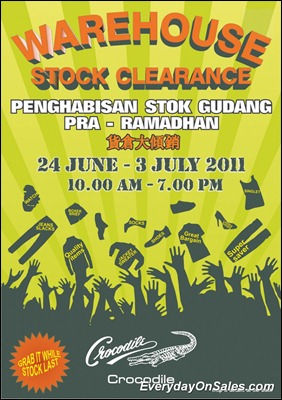 Crocodile-Warehouse-Stock-Clearance-2011-EverydayOnSales-Warehouse-Sale-Promotion-Deal-Discount