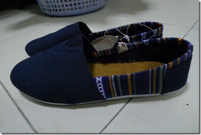 canvas shoes with ethnic print
