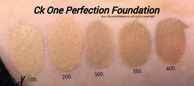 Calvin Klein CK One Color All Day Perfection Face Makeup SPF 20 Review & Swatches of Shades