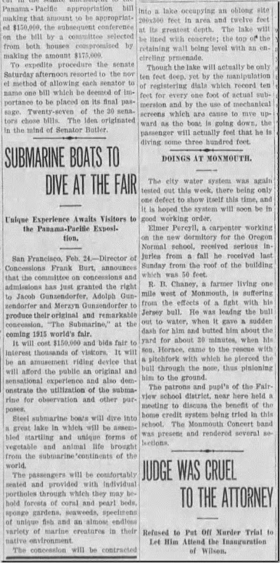 Submarines Daily City Journal 24 Feb 1913 Page 5