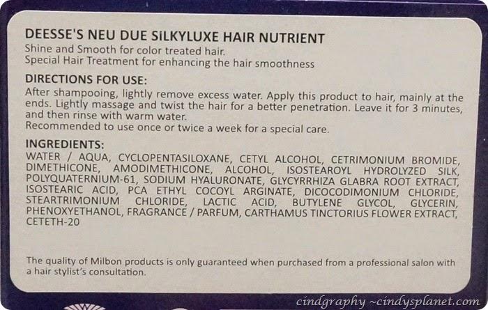 Milbon Neu Due Silkyluxe6