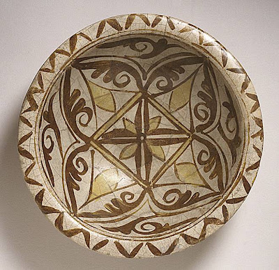 Bowl Iraq Bowl, 9th century Ceramic; Vessel, Earthenware, overglaze polychrome luster painted, 2 3/4 x 9 1/2 in. (6.99 x 24.13 cm) The Nasli M. Heeramaneck Collection, gift of Joan Palevsky (M.73.5.238) Art of the Middle East: Islamic Department.