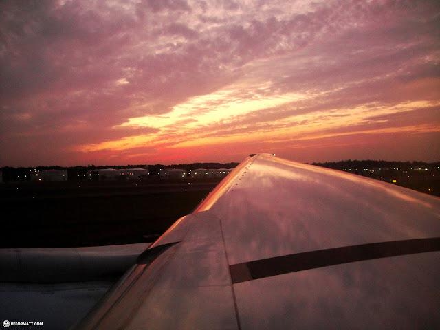 mesmerizing skies at narita aiport before takeoff in Narita, Tokyo, Japan