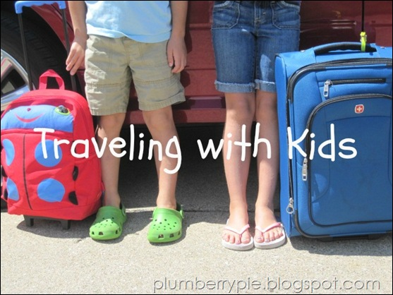 plumberry pie on the road with kids