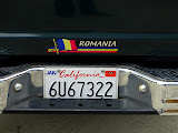 Romanian sticker on the car of a Romanian from California