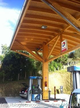 Marquesina madera gasolinera (8)
