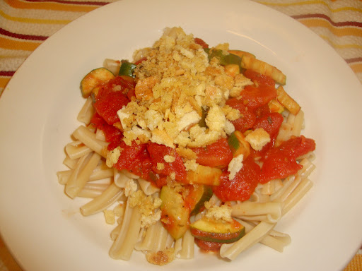 ... And sprinkle on top of pasta and veggies for a little toasty, buttery carb-on-carb action.