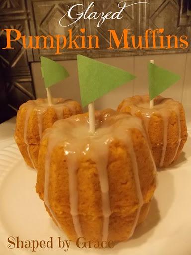 GlazedPumpkinMuffins