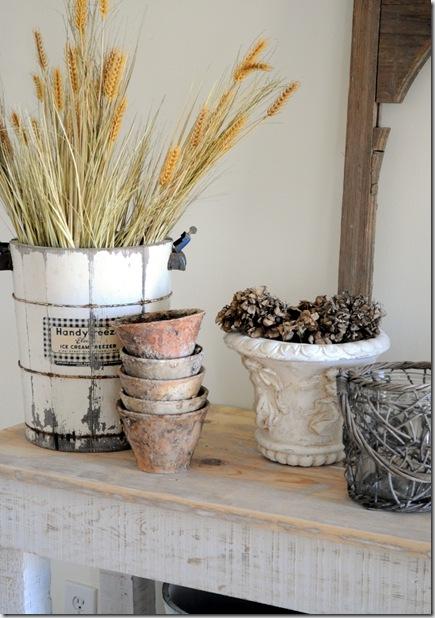 wheat in bucket