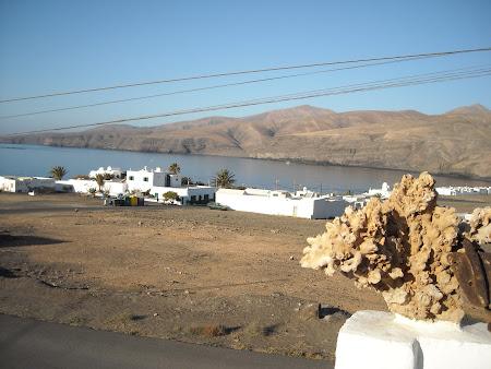 Priveliştea de la terasa noastră in Lanzarote