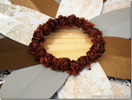 Wreath Center Paper Roses