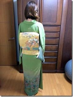 ゆったり着付けの訪問着で卒園式に (1)
