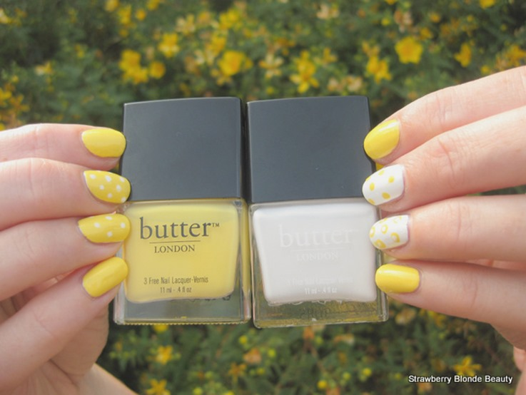 Butter-London-Cheeky-Chops-Cotton-Buds-yellow-white-nail-polish-dots