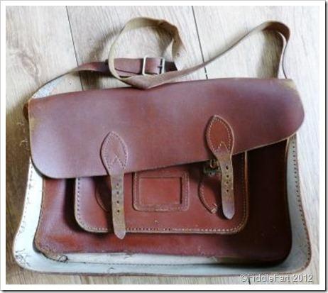 vintage school satchel