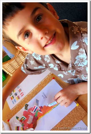 Montessori Pin Maps ~ Our Aussie Homeschool