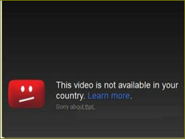 วีดีโอที่มีการปิดกั้นใน Youtube