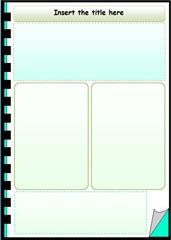 Template caderno verde
