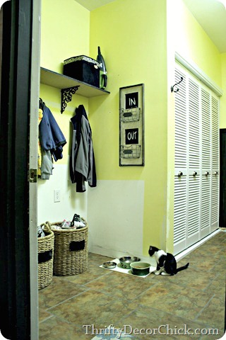 laundry room turned mud room