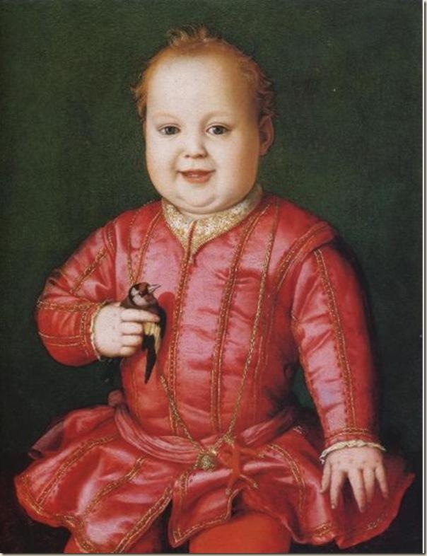 Bronzino, Portrait de Giovanni de Médicis avec un oiseau