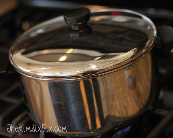Soup pot on stove