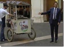 Matteo Renzi gelataio