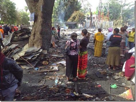 Maasai market fire