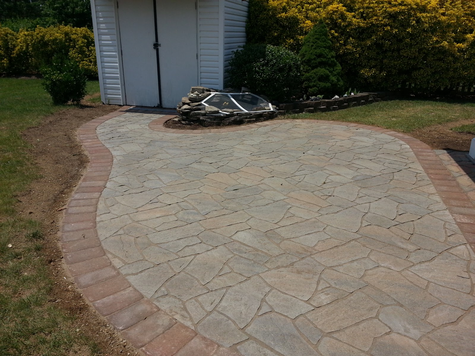 Flagstone Paver Patio In Bowie, Md