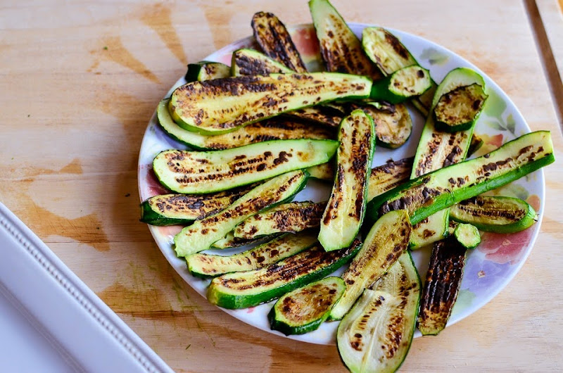 gluten free grilled zucchini with parsley-10956