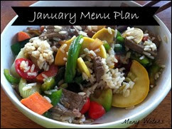 Many Waters January Menu Plan