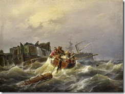 Boat-Oil-Paitings-Rowing-Boat-in-a-Harbor