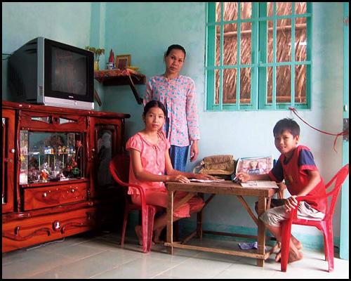 Ngôi nhà trong mơ của gia đình chị Huỳnh Thị Loan