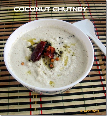 coconut chutney white