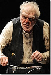 Pictured in Goodman Theatre's production of Krappís Last Tape by Samuel Beckett, directed by Jennifer Tarver is Brian Dennehy (Krapp). The double-bill production of Hughie/Krapp's Last Tape begins performances on January 16 (Opening Night is January 25) and runs through February 28 in the Goodman's Albert Theatre. For ticket information, visit GoodmanTheatre.org or call 312.443.3800.  Photo by Liz Lauren.