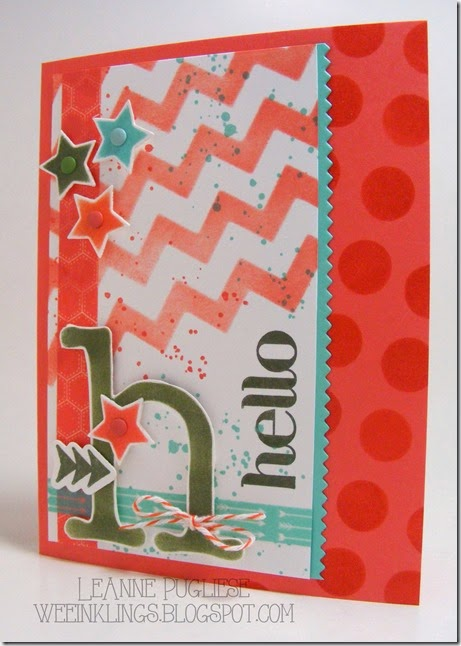 LeAnne Pugliese WeeInklings Paper Players 191 Stencil Hello Stampin Up