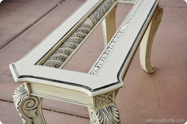 cream furniture with glaze