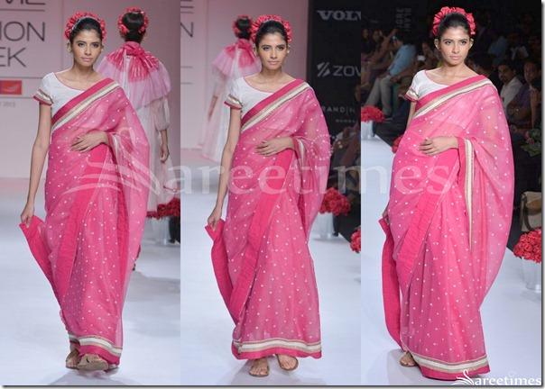 Soumitra_Mandal_Pink_Embroidery_Saree