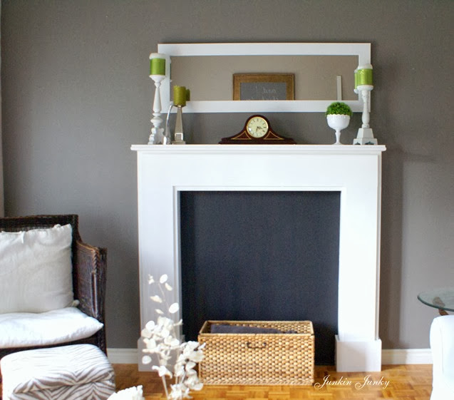 Faux fireplace at Junkin Junky