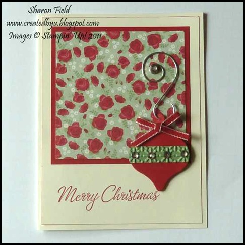 1. Christmas Workshop Wow Ornament Card