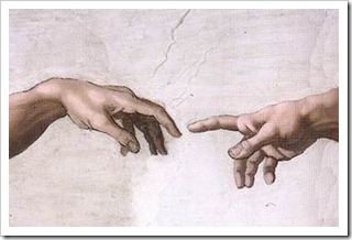 Hands of Adam and God