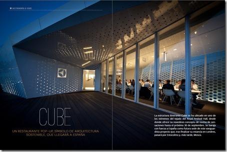 Reportaje sobre el restaurante Cube del número 6 de la revista digital multimedia LifeStyle
