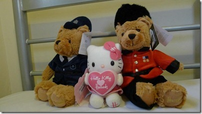 Harrods Policeman and Guardman bear X Hello Kitty