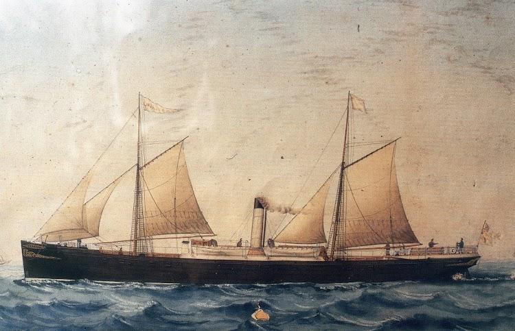 Vapor COVADONGA. Acuarela de José Pineda. Alicante 4 de enero de 1872. Fundación Museo Evaristo Valle. Del libro HISTORIA DE LA MARINA MERCANTE ASTURIANA.jpg