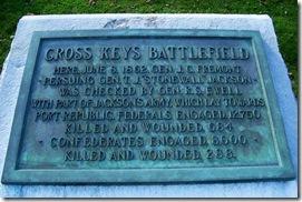 Cross Keys Battlefield marker close up of the text