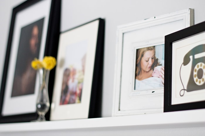 ways to display photos in your home ledge
