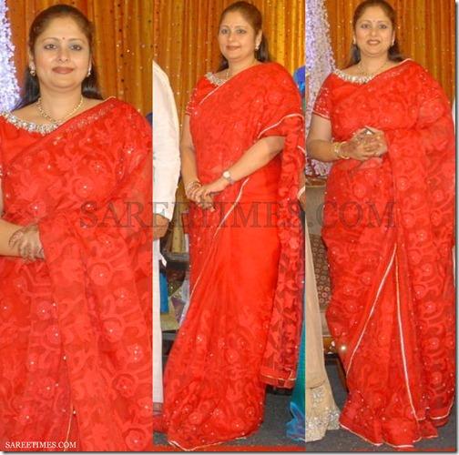 Jayasudha_Red_Saree