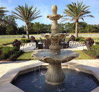 3-Tier Scalloped Fountain, Golden Cypress Granite