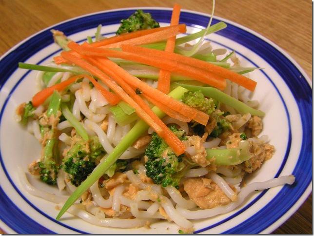 3 salmon noodles