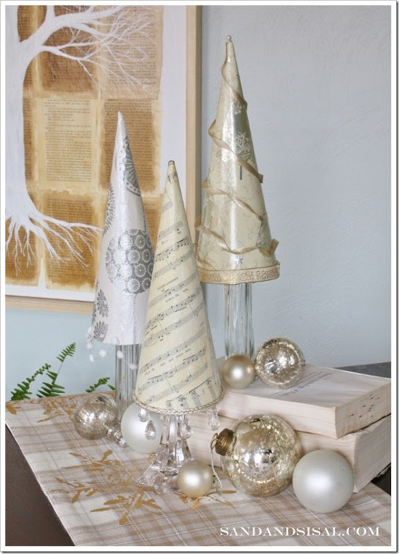 Paper Christmas Trees by Sand &#038; Sisal