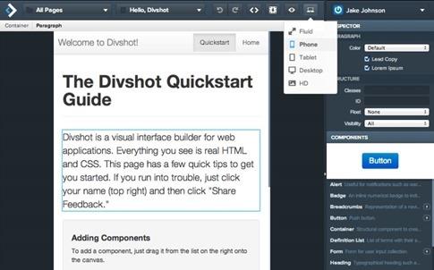Divshot- diseños en HTML5