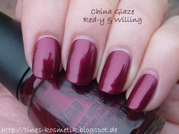 China Glaze Red-y & Willing 4